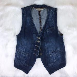 CAbi Denim Vest #347 Size XS